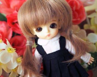 bjd doll girl wig W-H1 (2 colors) 1/12 lati white fl pukipuki