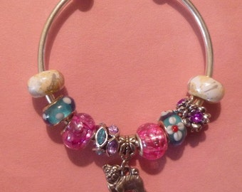23- Open European Style Charm Bracelet ~ Pug