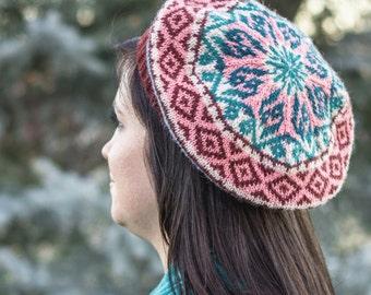 Nakawé Tam digital knitting pattern--fair isle stranded colorwork knitting pattern PDF