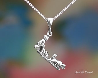 Sterling Silver Sled Dogs Necklace or Pendant Only .925 Husky Malamute