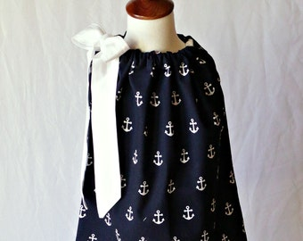 Toddler Pillowcase Dress, Nautical Dress, Little Girl Dresses, Toddler Summer Dress, Dress Toddler, Toddler Girl Clothing