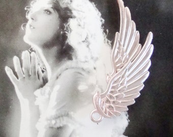 Pink Angel Wing Charm
