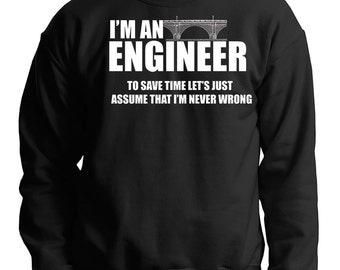 Engineer Sweatshirt Gift For Engineer Funny Engineer Gift Sweater