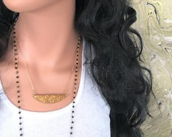 Drusy Necklace // Druzy Necklace // Gold Nugget Necklace // Gold Drusy Druzy Quartz Necklace // Organic Rock Necklace // Gold Boat Necklace