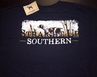 Straight Up Southern Hunting Dog Tshirt
