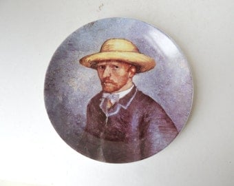 Porcelain Plate Van Gogh Self-Portrait with a Straw Hat