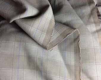 Amazing BTY Vintage Rayon Gabardine Ricky Jacket Fabric 1950s Menswear Yardage -B1