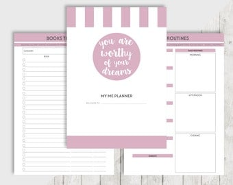 A5 & Personal ME Printable Planner Inserts - Filofax Kikki K - Wishlist, Books to read, Movies to see, Journal, Thoughts, Bucket list, TV