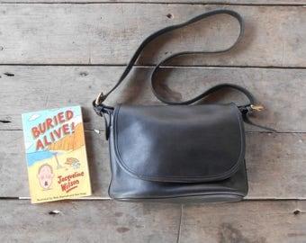 Vintage COACH Bag No.B6C-4150 SOHO FLETCHER / Black / Leather Crossbody Bag , Shoulder Bag , Messenger / Medium / Authentic