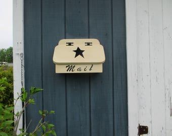 Mail Box Horizontal Wall Mounted Wooden