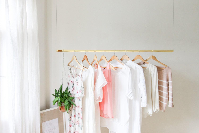 hanging clothing rack. Black Bedroom Furniture Sets. Home Design Ideas
