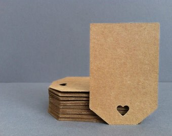 75 Brown Kraft Tags / Gift Tags / Wedding Favor Tags / Kraft Tags / Wedding Tags / Brown Tags / Thank You Tags / Rustic Favor Tags