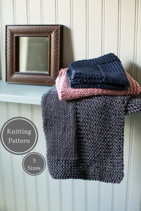 Washcloth Knitting Patterns For Beginners : Bordered Washcloth Pattern Easy Knit Washcloth Pattern