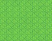 """SALE Laurel Burch Fabric; Mythical Jungle Triangles; Y2133-17 Green; Half Yard, or By The Yard; 42/44"""" wide; Clothworks; Geometric"""