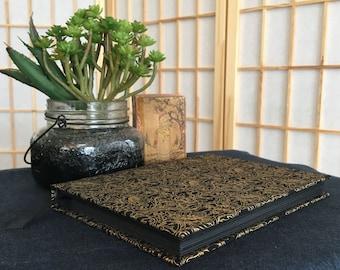 Metallic gold & black sketchbook/journal/album