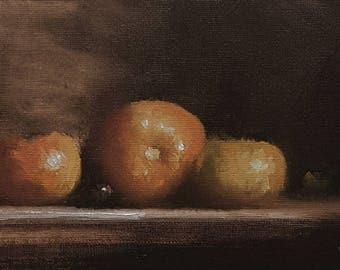 Tangerines ORIGINAL oil painting on canvas board-Still Life painting-wall art-Neil Carroll