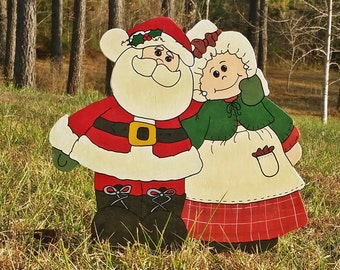Whimsical Mr. And Mrs. Claus | Christmas Yard Art