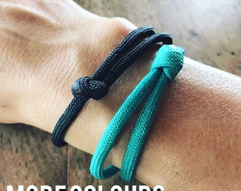 Adjustable Stacking Bracelets / Water Resistant Bracelets / Colourful Paracord