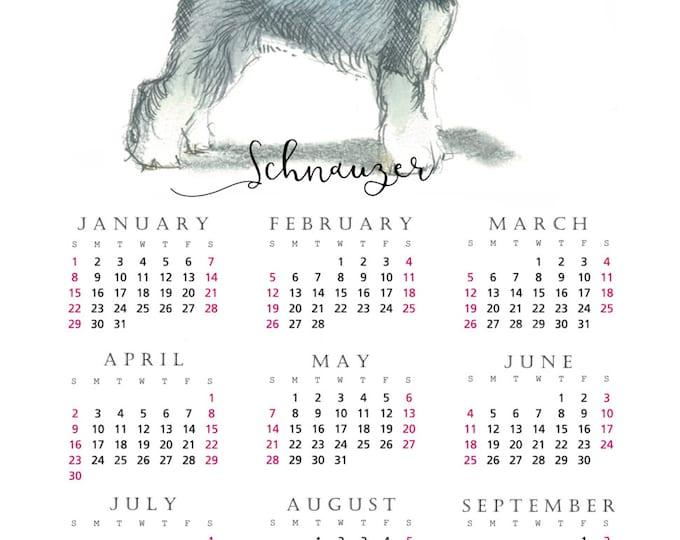 Schnauzer 2017 yearly calendar