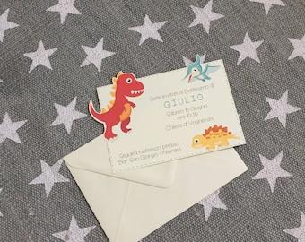 "Baptism Invitation ""Dinosaurs"""