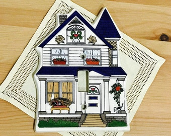 Vintage Porcelain Wall Switch Plate Cover Single Light Switch Victorian Home House From All Fired Up