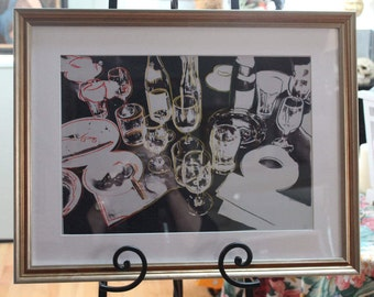 "Andy Warhol ""After The Party"" Framed Print/Andy Warhol Art Print/Framed Warhol Print ""After The Party"