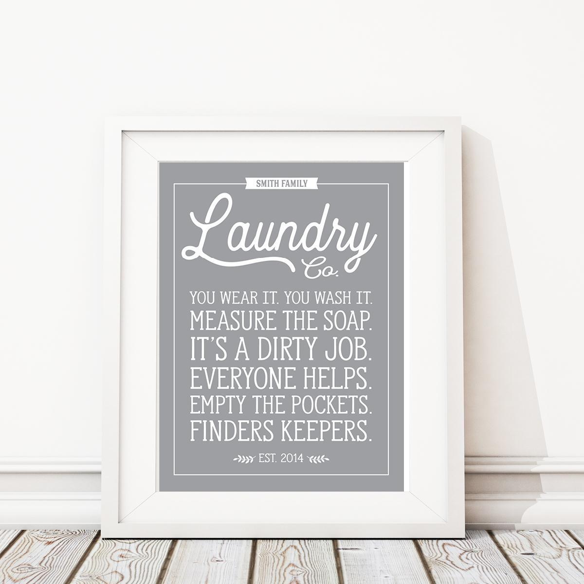 Laundry Art Laundry Room Rules Art Printlaundry Signlaundry Room Sign