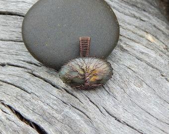 Labradorite tree of life pendant, copper tree of life, unique gift, hippie necklace, labradorite pendant, wire wrapped tree, tree of life