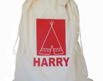 Personalised Toy Bag, Teepee Storage Bag, Nursery Toy Bag, Laundry Bag, Kids Interior, Drawstring Storage Sack, Kids Decor, Boys Room, Toys
