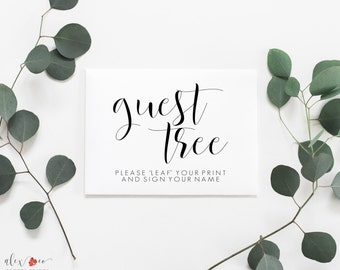 Guest Tree Sign Printable. Wedding Tree Sign. Please Leaf Your Signature. Wedding Tree Sign In. Wedding Tree Guest Book. Tree Guestbook.