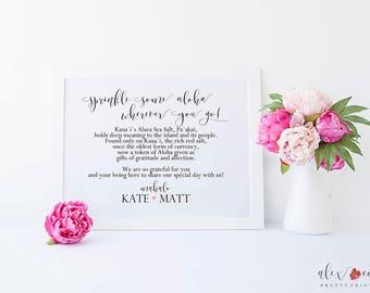 Printable Hawaiian Wedding Sign. Hawaiian Wedding Printable. Hawaiian Wedding Sign. Wedding Printables. Destination Wedding.Tropical Wedding