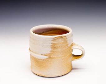Wood Fired Porcelain Mug - Shino Liner Glaze, 0525007