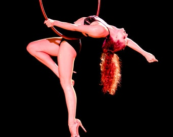 In Yo Face, Aerial, Aerialist, Cerceau, Lyra, Hoop, Circus, Performance, Giclée Print, Glossy, Archival, Photograph, Color