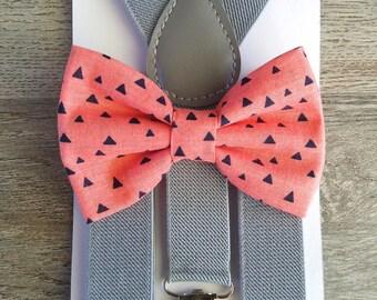 Sandia Bow Tie Suspender Set