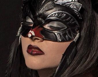 Swan Lake Fairy Tale Ballerina Black Swan Princess Queen Leather Mardi Gras Masquerade Mask