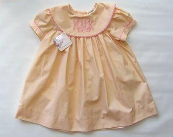 Monogram dress for Girls, Girls Summer Dress, Monogrammed Baby Dress, summer outfit, summer Portrait Dress for Girls, FREE Personalization