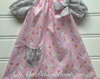 Unicorn Dress for Baby, Baby Girl Dress, Girl Party Dress, Toddler Dress, Little Girl Dress, Toddler Girl Dress, Baby Dress, Infant Dress