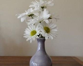 Lavender bud vase, bottle, floral vase, vessel, flower, home decor, lavender decor, ceramic vase