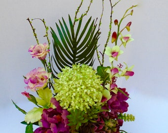 Spring Silk Floral Table Arrangement, Summer Floral Centerpiece, Floral Arrangement, Spring Floral, Easter Floral, Luxury Collection