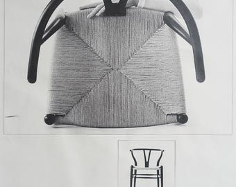 1960s Wegner's Wishbone Chair - Original Vintage Poster