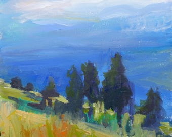 Landscape paintings, mountains,trees Colorado art contemporary fine art by Tracy Haines