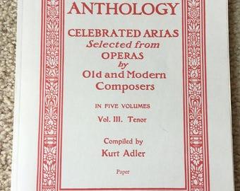 Opera Anthology, Tenor, Tenor Opera Anthology, Kurt Adler Opera, Opera Arias, Tenor Aria, Sheet Music, Opera Music, La Donne e mobile