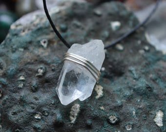 Small Raw Quartz Point Pendant