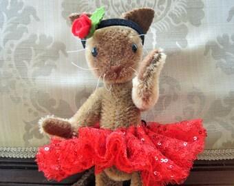 Mohair Siamese Cat in Tutu