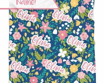 Baby blanket - Baby blanket personalized - Baby girl - Baby shower gift - Swaddle blanket - Newborn gift - Custom blanket