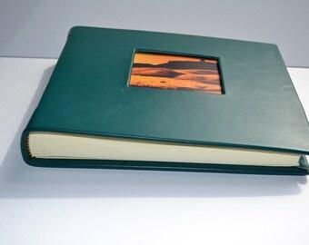 """Saddle Leather Photo Album Landscape 7.5"""" x 9"""""""
