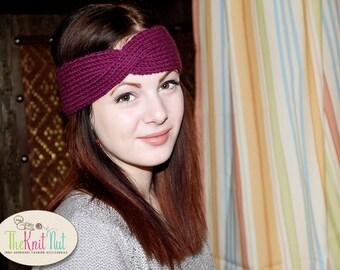 Twist Turban Headband, Knit Headband, Twisted Headband, Turban Headband, Turban Twist Band, Winter Ear Warmer,