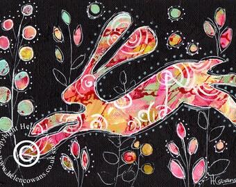 Bounding Hare #128 Original Painting