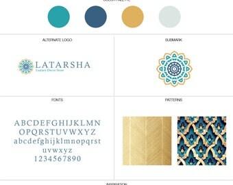Branding Design Kit, Logo Branding Kit, Branding Package, Small Branding Kit, Brand Pack, feminine logo, blogger logo, luxury logo