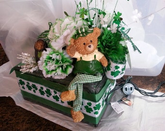 St Patty's Day Glass Block